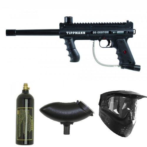 Tippmann 98 Custom PS ACT Paintball Marker Gun 3Skull Package