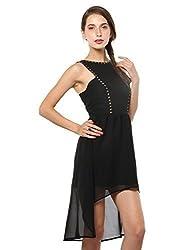 XnY Women's High Low Dress (DR 1020005_Black_14)
