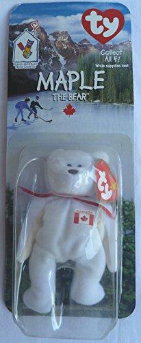 Maple Canadian Bear - McDonald's Ty Teenie Beanie MIP - 1999 - 1