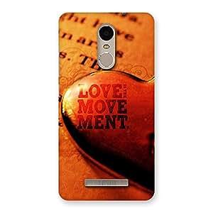 Love is Movement Back Case Cover for Xiaomi Redmi Note 3