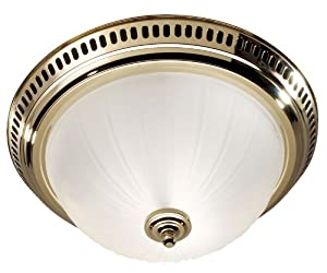 NuTone Polished Brass Bathroom Exhaust Fan With Light