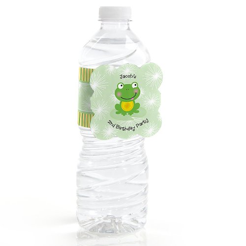 Froggy Frog - Personalized Birthday Party Water Bottle Label Favors front-703323