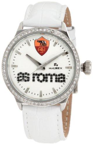 Haurex Italy Grand Class - Reloj analógico de mujer de cuarzo con correa de piel blanca