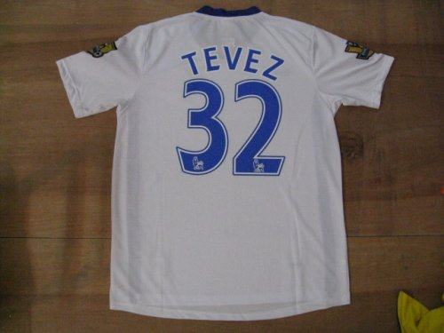 08-09 MANCHESTER UNITED AWAY JERSEY TEVEZ + FREE SHORT (SIZE M)
