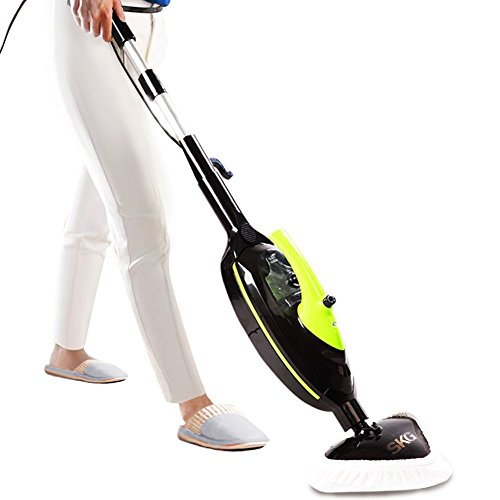 SKG 1500W Powerful Non-Chemical 212F Hot Steam Mops & Carpet and Floor Cleaning Machines (6-in-1 Accessories & 3 Microfiber Pads Included) - 6-in-1 Versatile Steam Cleaner (Vacuum Carpet And Steam Mop compare prices)