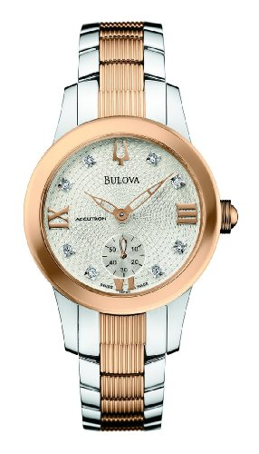 Accutron by Bulova Masella Two-Tone Rose Gold tone & Steel Womens Watch 65P101
