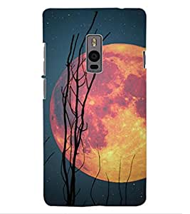 ColourCraft Moon Design Back Case Cover for OnePlus Two