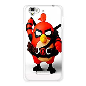 Ajay Enterprises Red Angry Bird Back Case Cover for YU Yureka Plus