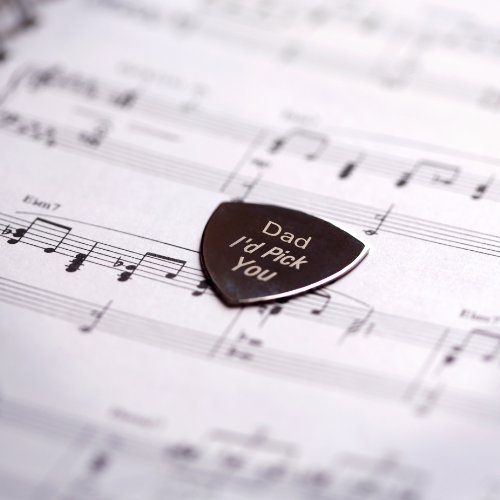 Personalized Engraved Silver Plated I'd Pick You Plectrum, Guitar Pick - Shipped from England - Fathers Day, Anniversary