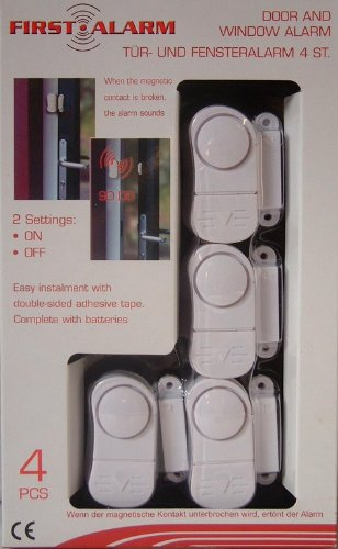4 PC PIECE DOOR WINDOW INTRUDER SECURITY ALARM ALARMS