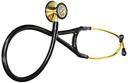 3M Littmann Cardiology III Stethoscope, Brass-Finish Chestpiece, Black Tube, 27 inch, 3128BRS