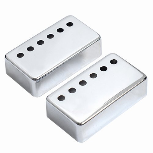 1set of 2pcs Humbucker Neck & Bridge Guitar Pickup Covers Chrome High Quality (Bridge Cover compare prices)