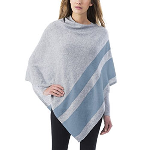 Celeste Ladies Colorblock Cashmere Blend Travel Wrap Poncho