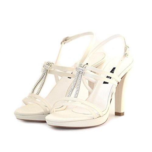 Sandali sposa Albano raso bianco 37