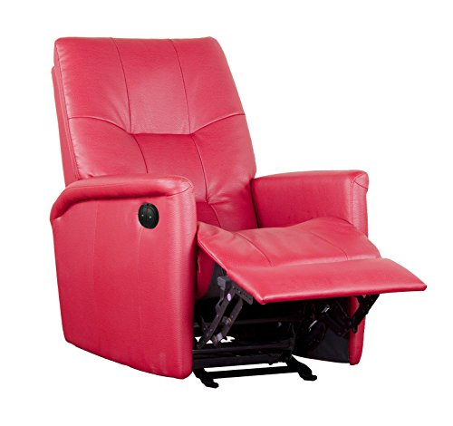 Shermag Electric Power Motion Recliner, Red