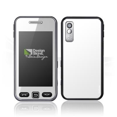 Design Skins für Samsung Star S5230 - White Design Folie [Elektronik]
