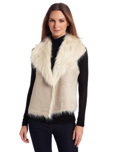 Karen Kane Women's Reversible Faux Fur Vest