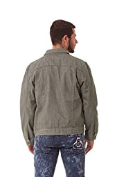 Agile MEN\'S Rinsed Wash Denim Jacket BROWN-L