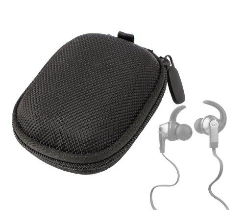Duragadget Hard Eva Protective Storage Case / Bag For Headphones & Earphones In Black For Monster: Isport Victory / Isport Strive / Isport Intensity