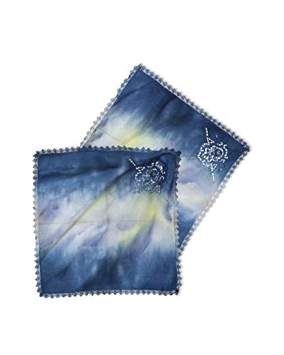 Uptown Down Set of 2 One-of-a-Kind Hand-Dyed Napkins