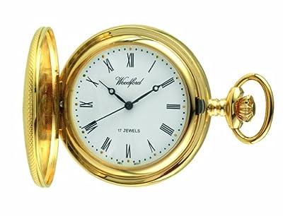 Woodford Pocket Watch 1056 Gold Plated Mechanical Half Hunter