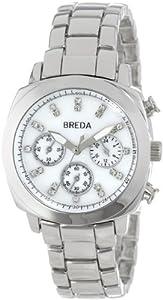 Breda Women's 5199-silver Hilary Modern Oversized Cushion Style Metal Watch