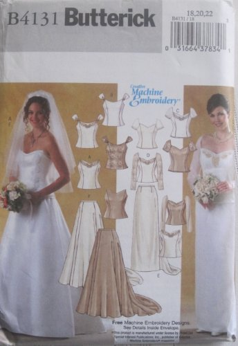 Butterick Sewing Pattern B 4131 Misses 2 Pc Wedding Bridal Gown Top and Skirt Size 6,8,and 10