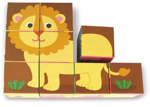 Imagen de 9 Cartón Vilac Melusina Bloques del juguete del bebé, animales