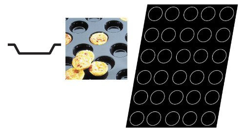 Flexipan 336402 Mini-Quiche Tartlets Nonstick Sheet Mold