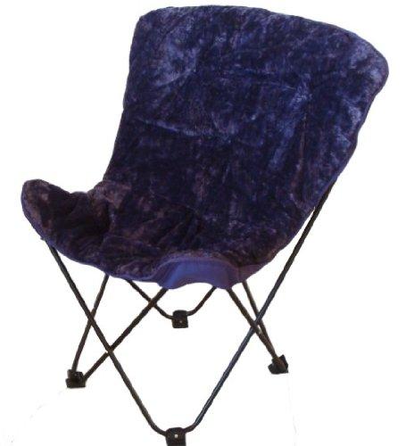 butterfly chair purple faux fur