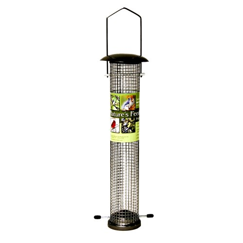 Cheap Nature's Feeding Time Deluxe Nut Feeder, Large, Gun Metal (B004V4BDY8)