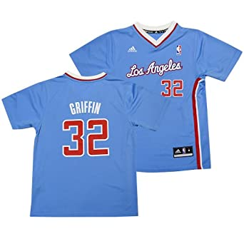 Los Angeles Clippers Blake Griffin Light Blue Pride Short Sleeve Replica Youth Jersey by adidas