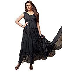 Granth Black Net anarkali suit