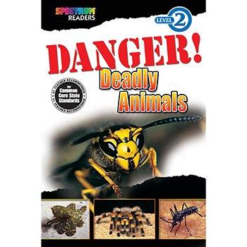 Spectrum Danger! Deadly Animals Level 2 Reader, 32 Pages, Paperback front-981218