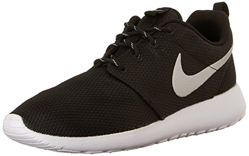 Nike - Roshe One, Sneakers da donna, Black/Mtlc Platinum-White, 38.5