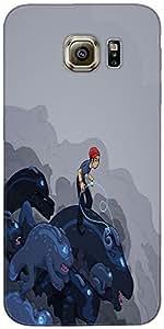 Snoogg Boy Riding The Bull 2596 Case Cover For Samsung Galaxy S Iiiiii Edge /...