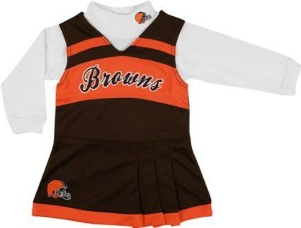 Cleveland Browns Girls 2-piece Turtleneck & Cheerleader Dress Set (2T) at Amazon.com