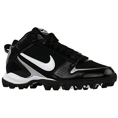Nike Mens Land Shark Legacy Mid Football Cleat (12 D(M) US, Black White) by Nike