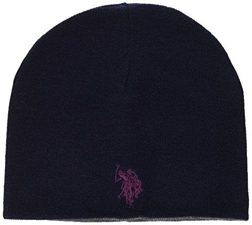 U.S.POLO ASSN. Reversible Hat, Cappello Uomo, Grigio-Blu, Taglia Unica