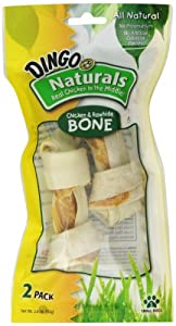 Dingo Naturals Bone, Small, 2-Count (99052)