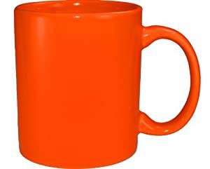 Amazon Com Funny Guy Mugs Plain Orange Mug Blaze Orange
