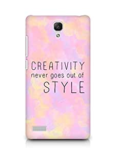 AMEZ creativity never goes out of style Back Cover For Xiaomi Redmi Note