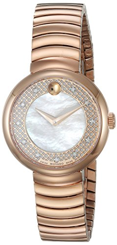 Movado-Womens-Swiss-Quartz-and-Stainless-Steel-Casual-Watch-ColorRose-Gold-Toned-Model-0607046