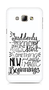 AMEZ start something new and the magic begins Back Cover For Samsung Galaxy A8