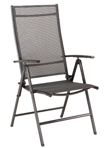 Romsey Multi-Position Reclining Outdoor Garden Chair (Charcoal Grey)