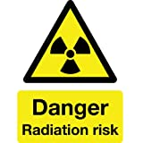 Danger Radiation Risk Sign with Symbol- High quality print and materials. Fast shipping!