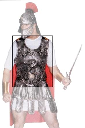 Amazon.com: Roman Soldier Breast Plate Armor: Adult Sized Costumes