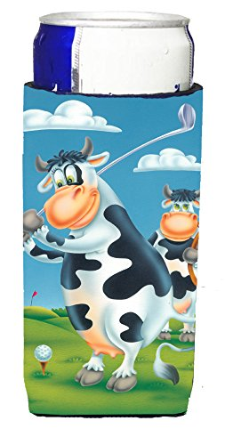 carolines-treasures-aph0535muk-cow-playing-golf-michelob-ultra-koozies-for-slim-cans-multicolor