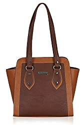Fantosy Women's Handbag (Brown and Tan) (FNB-611)