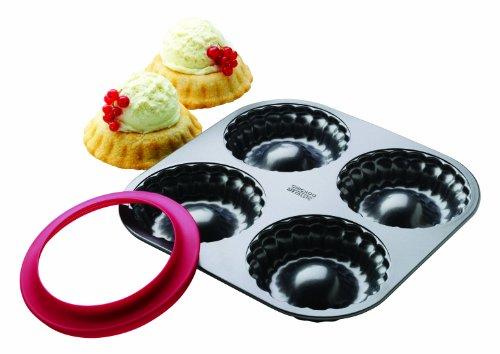 Chicago Metallic 26726 4 Count Individual Pie Bowl Set with Dough Cutter (Chicago Metallic Cutter compare prices)